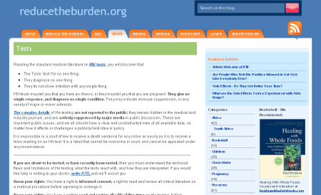 screenshot from reducetheburden.org
