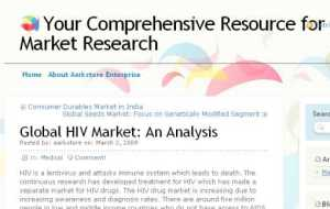 $700 AIDS Marketing Report from aarkresearch
