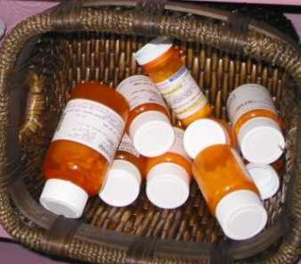 Basket full of AIDS meds